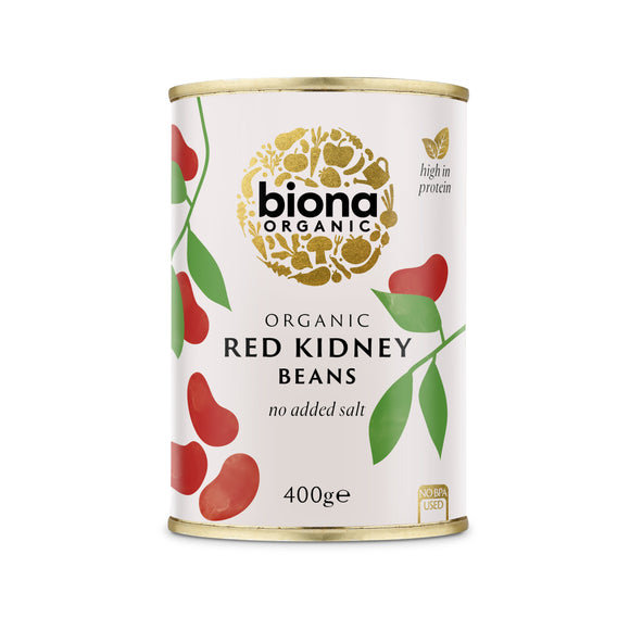 Mintons Good Food BIONA Organic Red Kidney Beans           Size - 6x400g