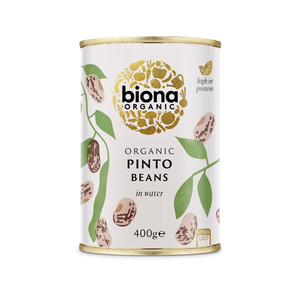 Mintons Good Food BIONA Organic Pinto Beans                Size - 6x400g