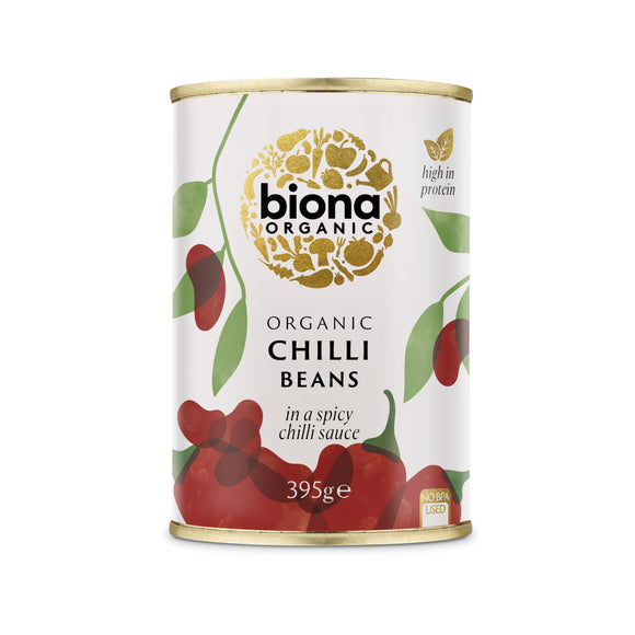 BIG TOM, Mintons Good Food, BIONA Organic Chilli Beans               Size - 6x420g,