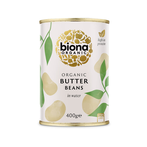 Mintons Good Food BIONA Organic Butter Beans               Size - 6x400g