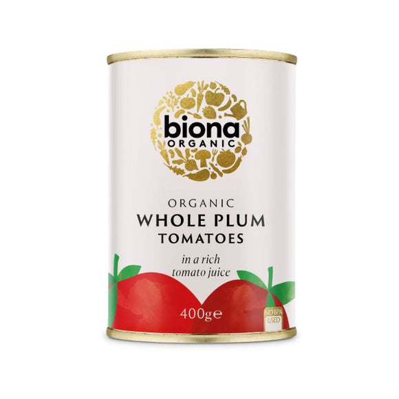 Mintons Good Food BIONA Organic Peeled Whole Tomatoes      Size - 12x400g