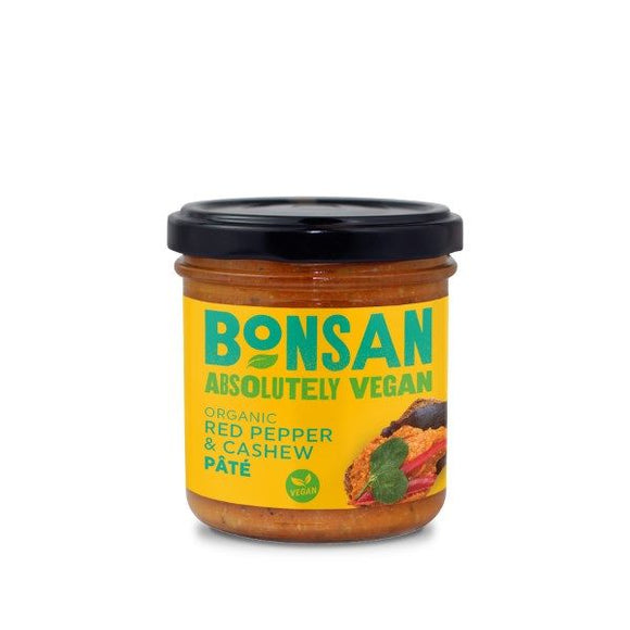 BONSAN, Mintons Good Food, BONSAN Org Cashew & Red Pepper Pate       Size - 6x130g,