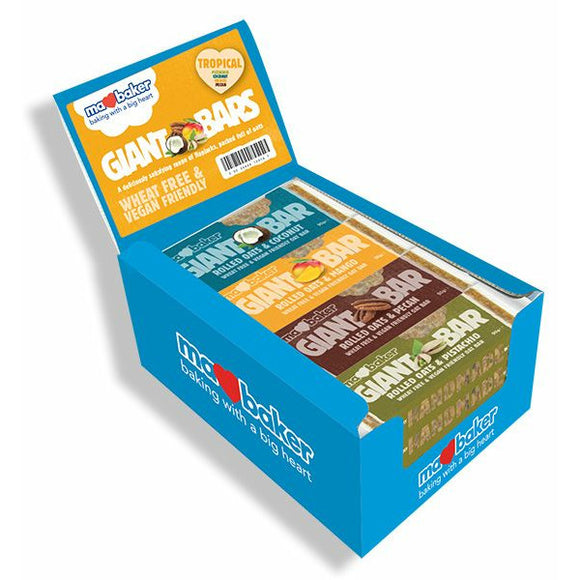 MA BAKER, Mintons Good Food, MA BAKER Mixed Tropical Giant Bar           Size - 20x90g,