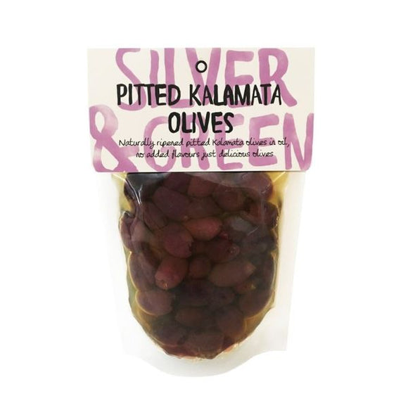 Mintons Good Food SILVER & GREEN Pitted Kalamata Olives             Size - 6x220g
