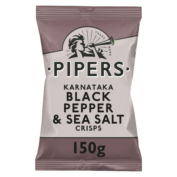 PIPERS CRISPS Karnataka Black Pepper & Sea Salt  Size - 15x150g