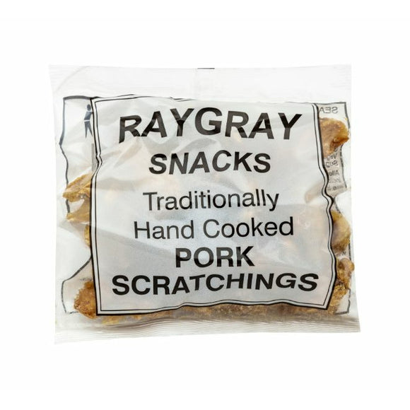 RAYGRAY, Mintons Good Food, RAYGRAY Pork Scratchings                   Size - 20x100g,