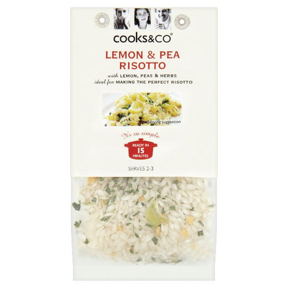 Mintons Good Food COOKS & CO Lemon & Pea Risotto                Size - 6x190g