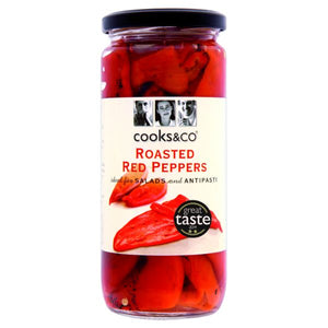 Mintons Good Food COOKS & CO Roasted Red Peppers                Size - 6x460g