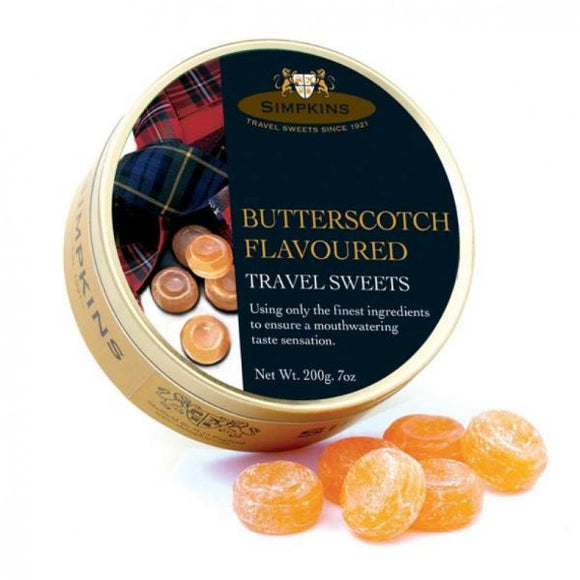 Mintons Good Food SIMPKINS TRAVEL SWEE Butterscotch Travel Sweets         Size - 6x200g