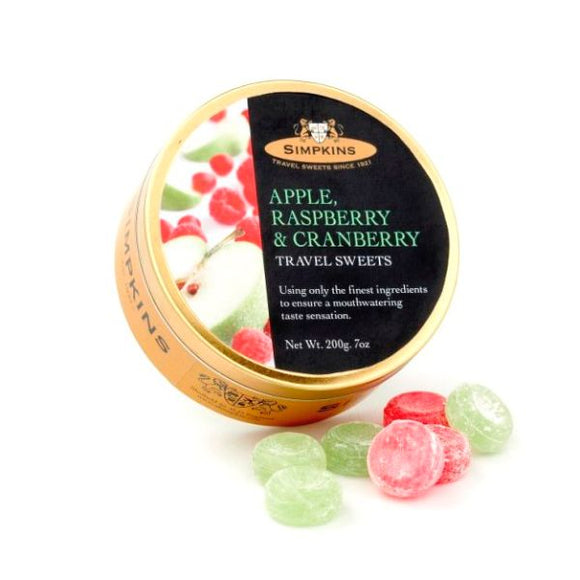 Mintons Good Food SIMPKINS TRAVEL SWEE Apple,Raspberry & Cranberry        Size - 6x200g