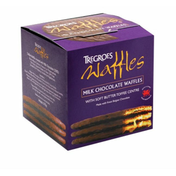 Mintons Good Food TREGROES WAFFLES Milk Chocolate Waffles (Box)       Size - 6x6's
