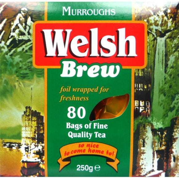 Mintons Good Food WELSH BREW Welsh Brew Tea Bags                Size - 12x80bags