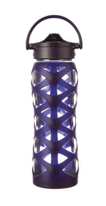 Lifefactory 22 oz Glass Water Bottle - Aubergine