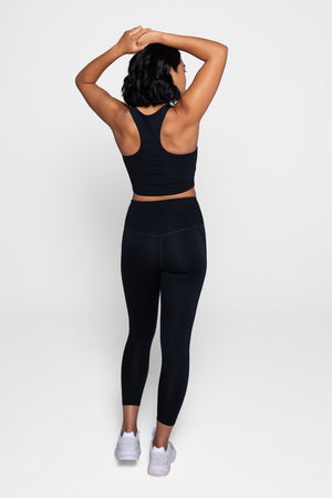 Girlfriend Collective Black Leggings Back