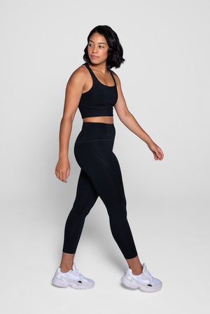 Girlfriend Collective Black Leggings Side