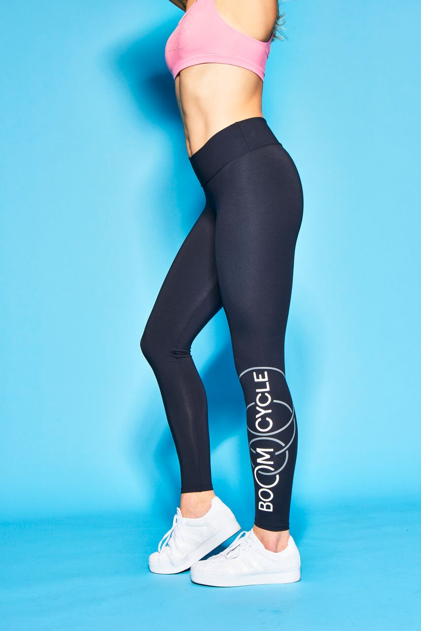 Boom Cycle Black Leggings