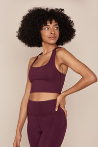 Girlfriend Collective Plum Bra