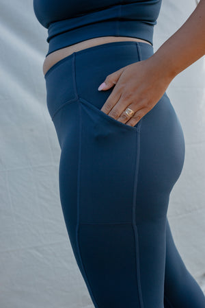 Girlfriend Collective Midnight Pocket Leggings