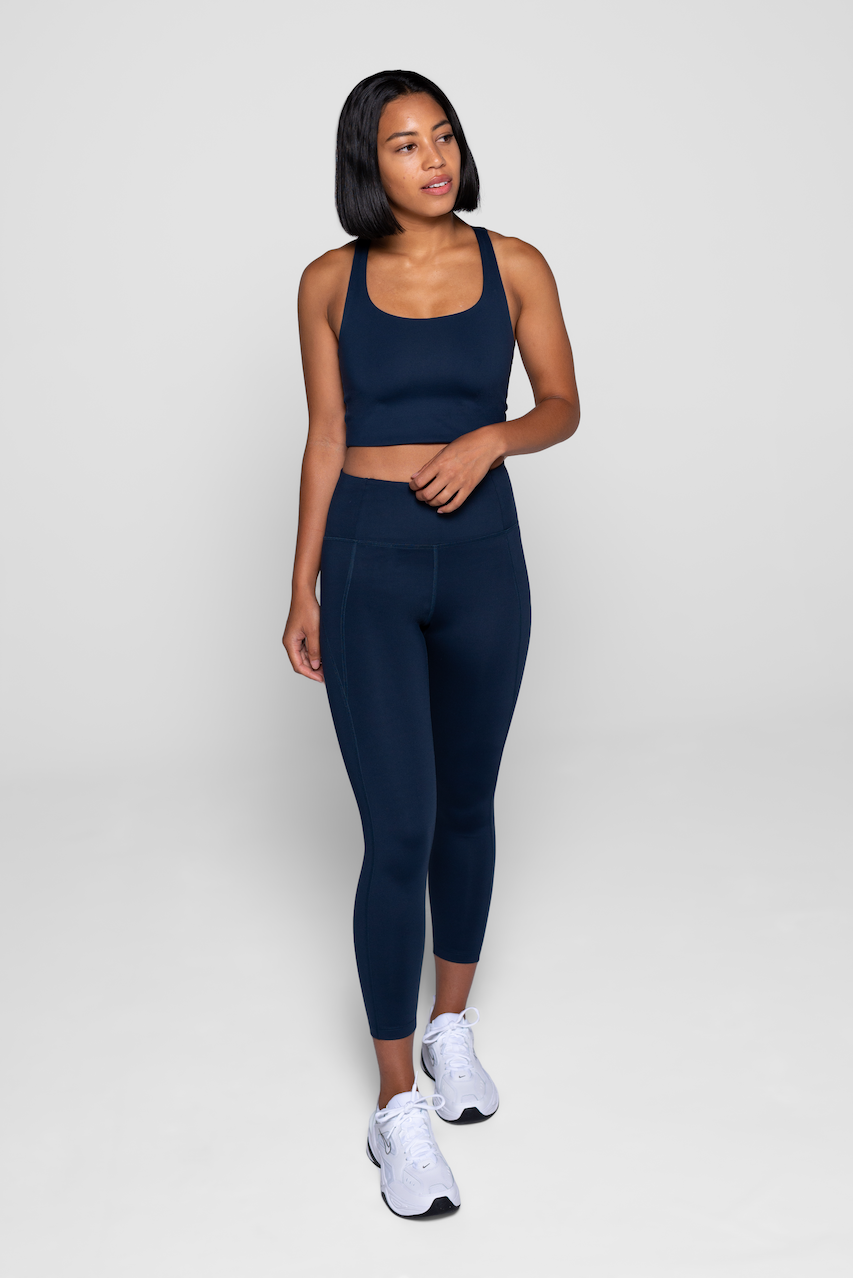 Girlfriend Collective Midnight Sports Bra & Leggings