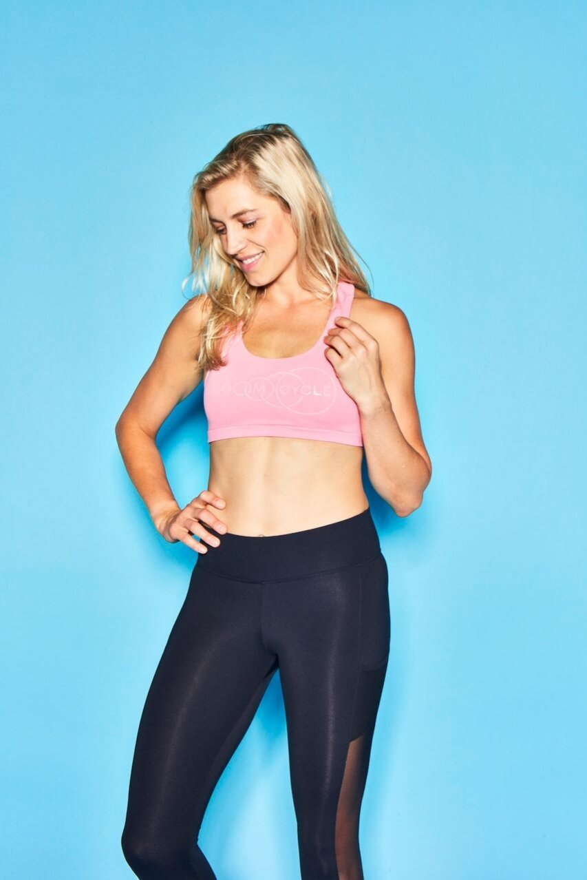 Boom Cycle Pink Sports Bra