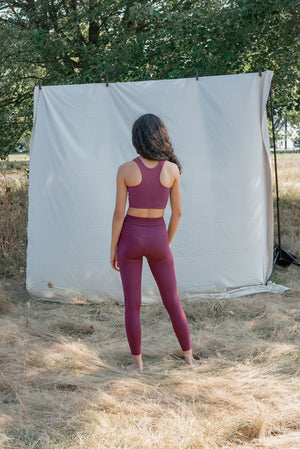 Girlfriend Collective Plum Pocket Leggings