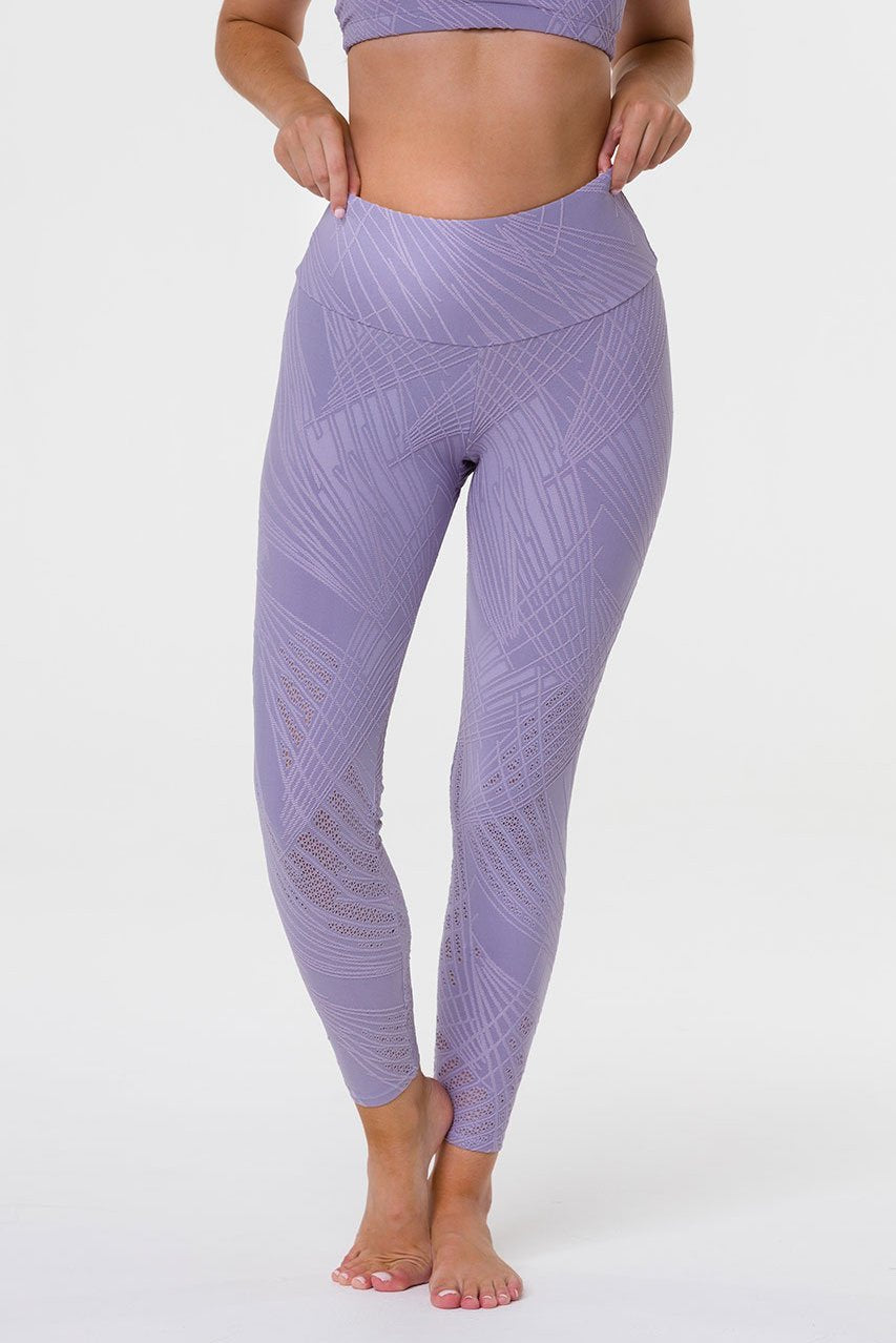 Onzie Selenite Midi Leggings in Lavender Grey
