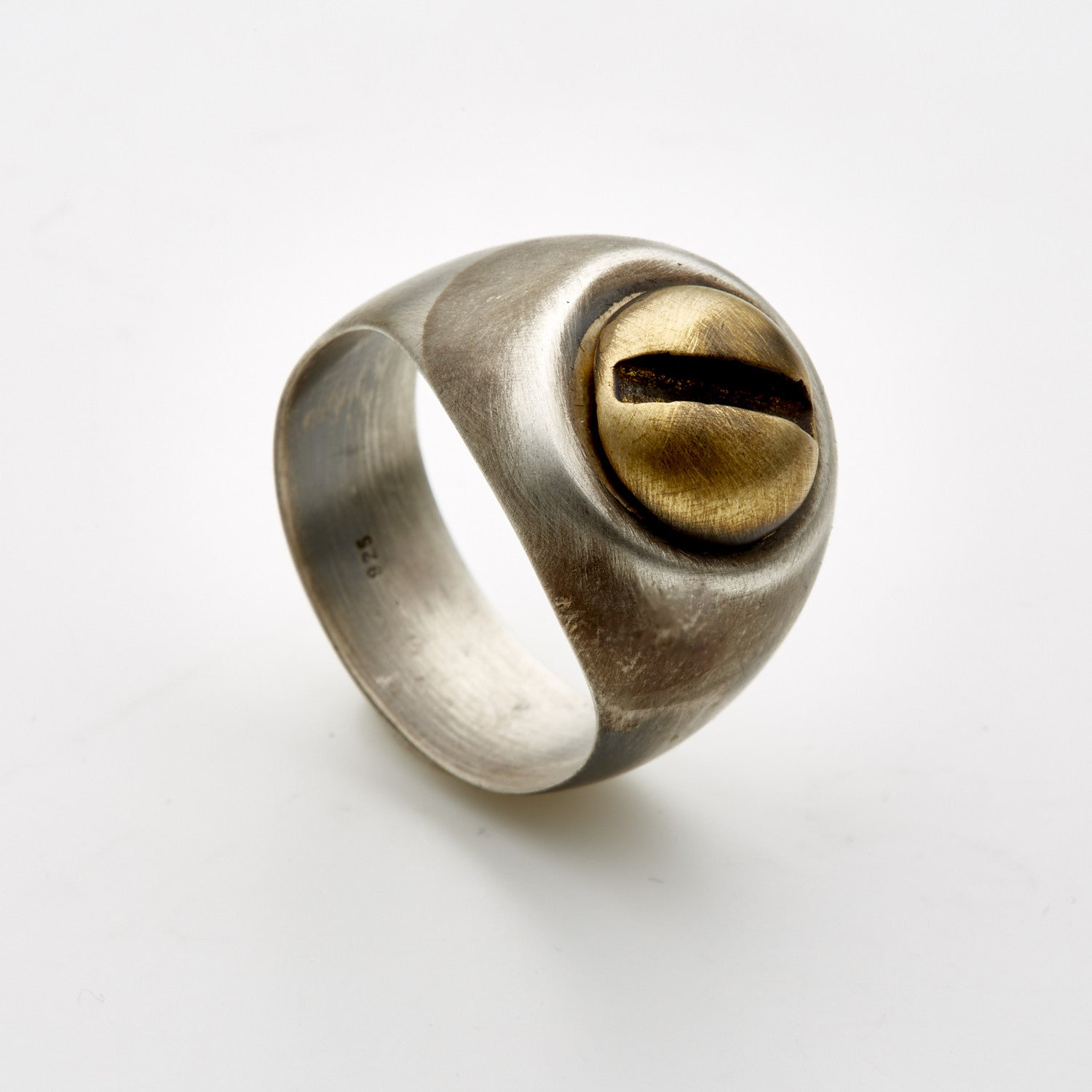 Bolt Signet Ring