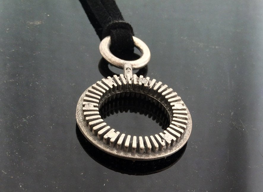 בועות Maker-Double-Silver-Necklace