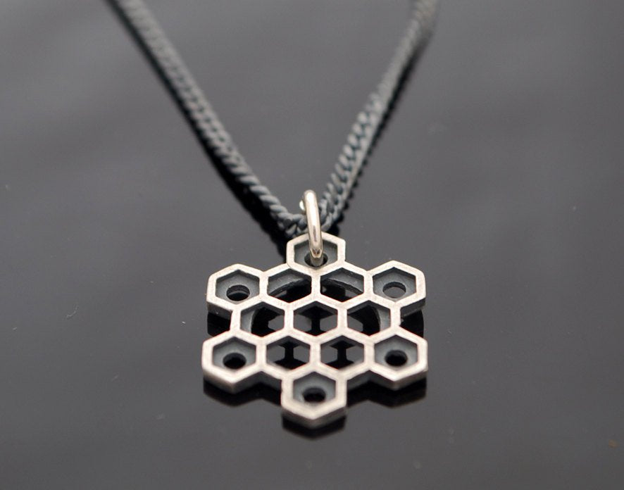 Hexagons Star-Silver-Necklace