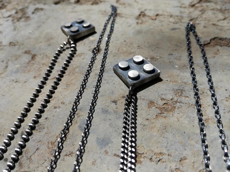 Bricks-2*2-Silver-Necklace