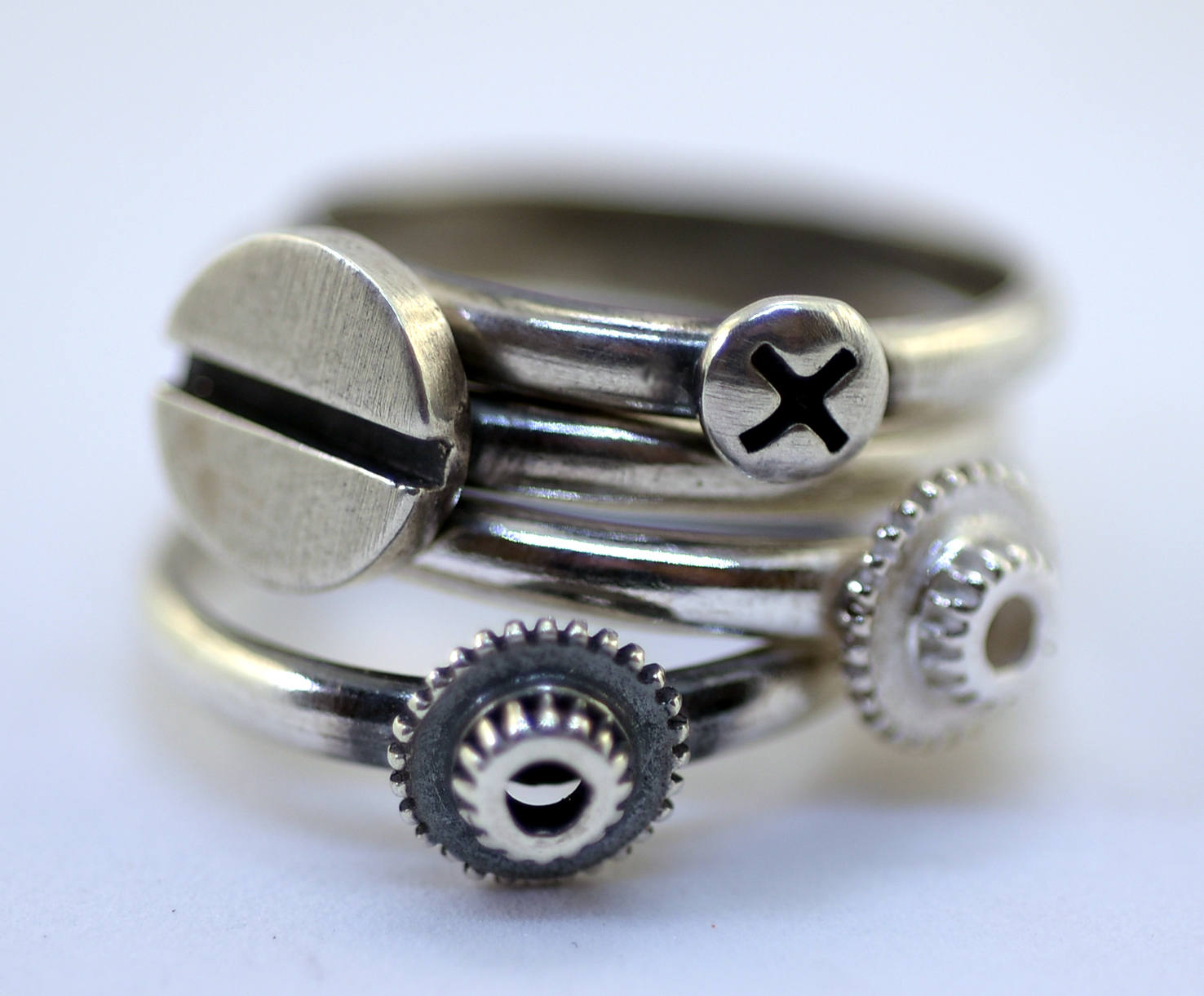 Precision mechanics-Phillips-Silver-Ring