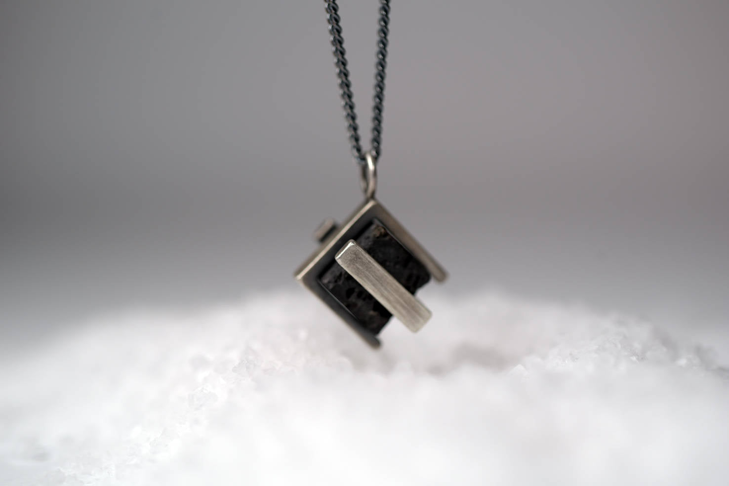 Double Lava-Silver-Necklace
