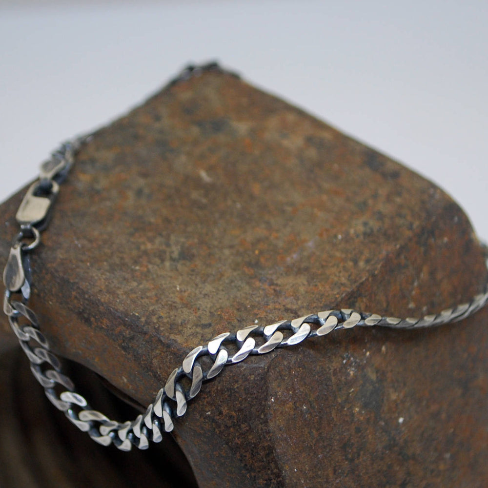 Curb-links-Silver-Pracelet-6.6