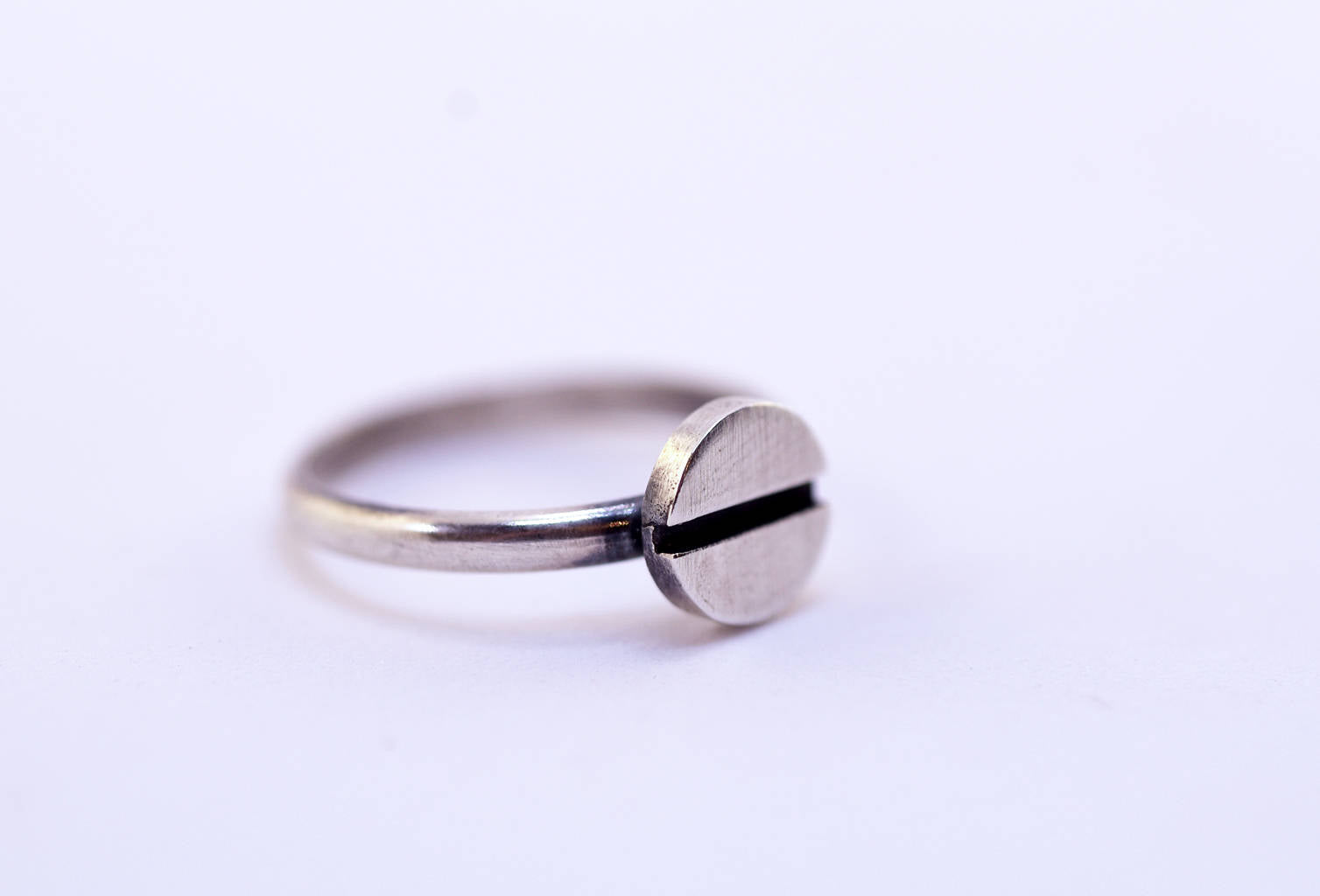 Precision mechanics-Screw-Silver-Ring