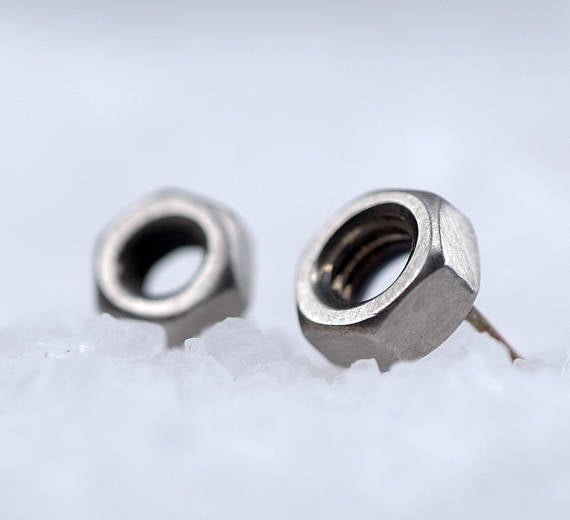 Nut-Silver-Stud-Earrings