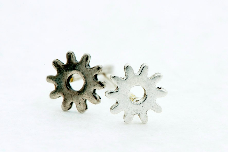 Sunny Punk-Silver-Stud-Earrings