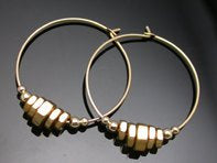 Gold Hoops-Gold nuts-Earrings-Big