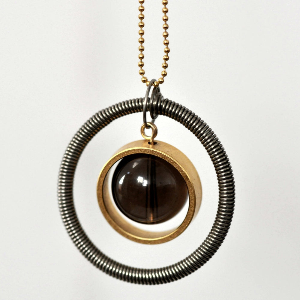Smoky Planet-Smoky Quartz-Gold-Necklace