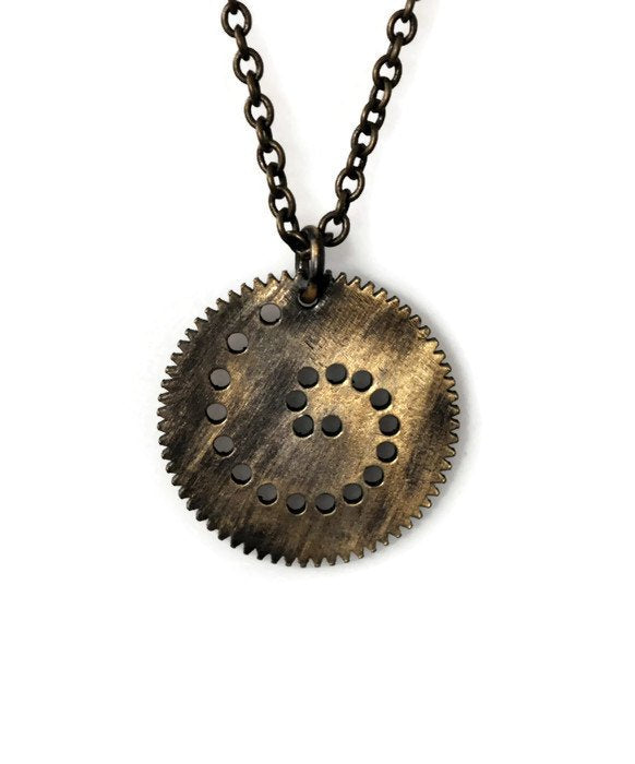 Spiro-Brass-Necklace