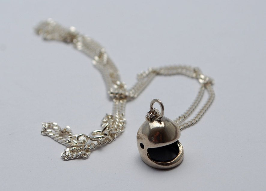 Helmet-Silver-Necklace