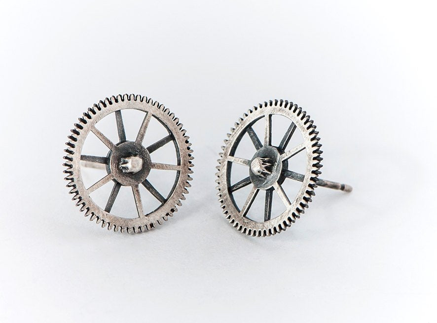 Biker-Silver-Stud-Earrings