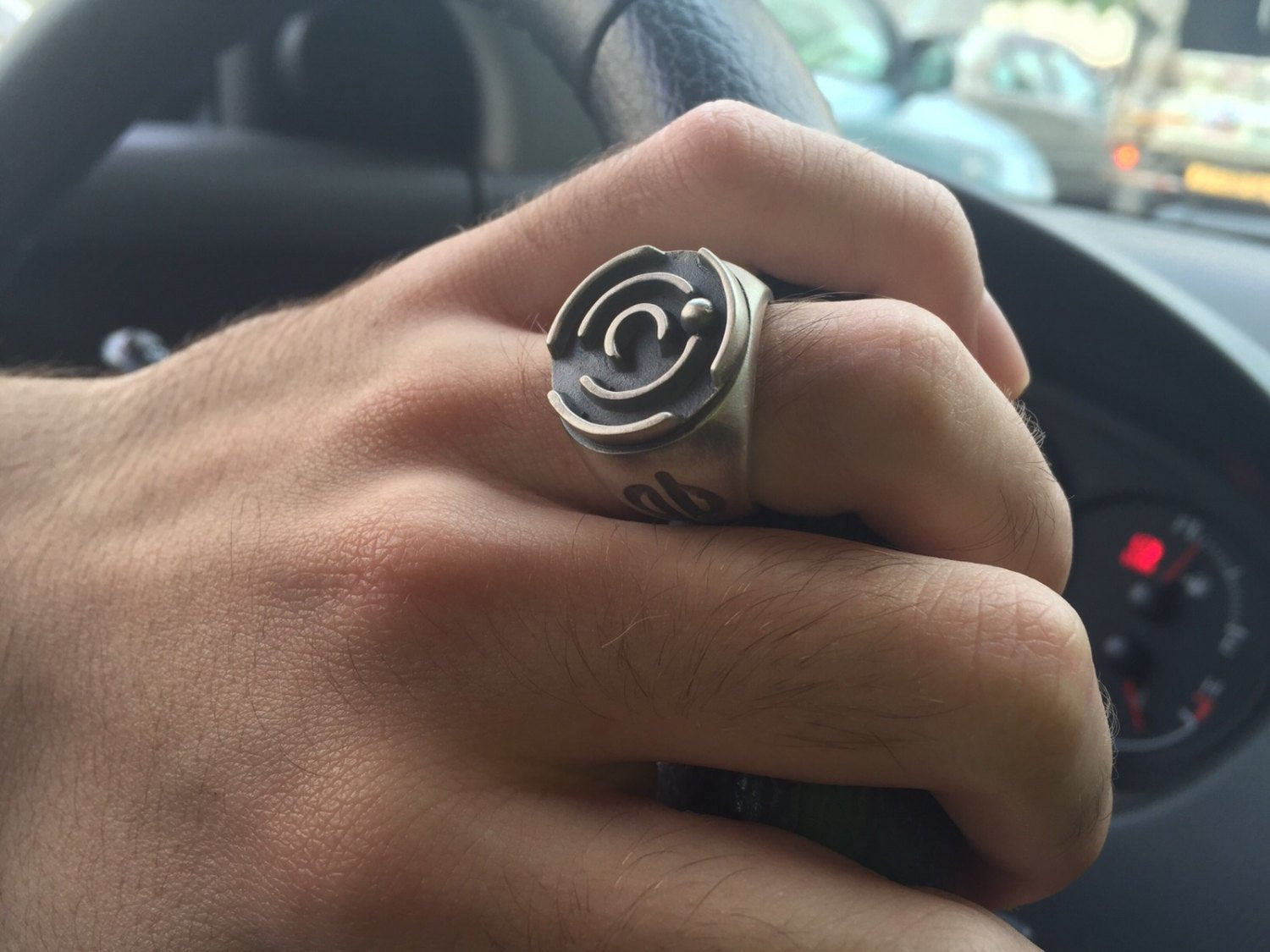 Labyrinth-Silver-Signet-Ring