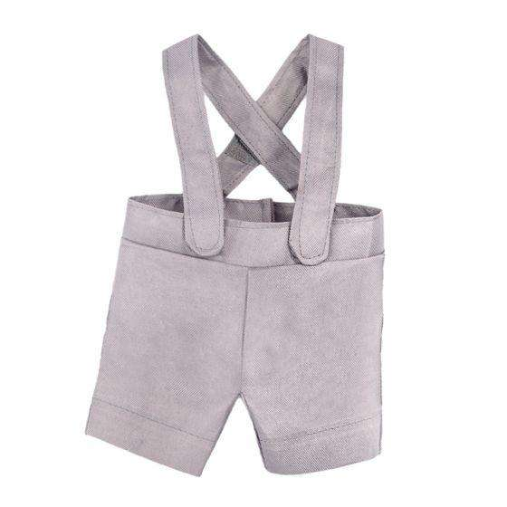 Gray Suspender Shorts