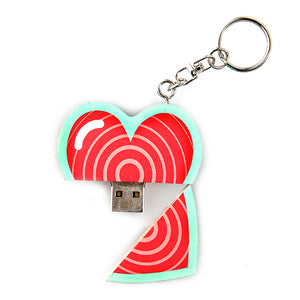 Wooden Heart USB Drive