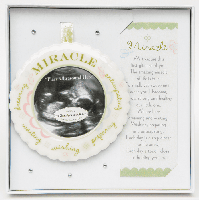 A Miracle Ultrasound Ornament- Boxed with Poem