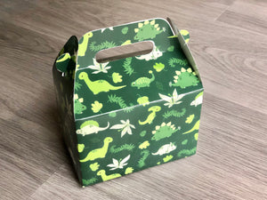 Dinosaur Pattern Favor Boxes / Treat Boxes / Gift Boxes