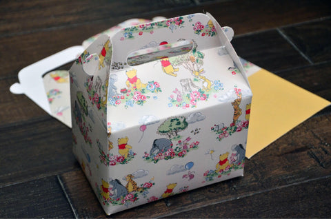 Winnie the Pooh Happy Birthday Favor Boxes / Treat Boxes / Gift Boxes