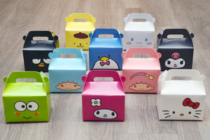 Assorted Sanrio Hello Kitty / My Melody /  Cinnamoroll / Twin Stars / Keroppi / Tuxedosam / Pom Pom Purin Favor Boxes / Treat Boxes / Gift Boxes