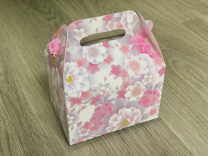 Japanese Sakura Cherry Blossoms Floral Pattern Favor Boxes / Treat Boxes / Gift Boxes