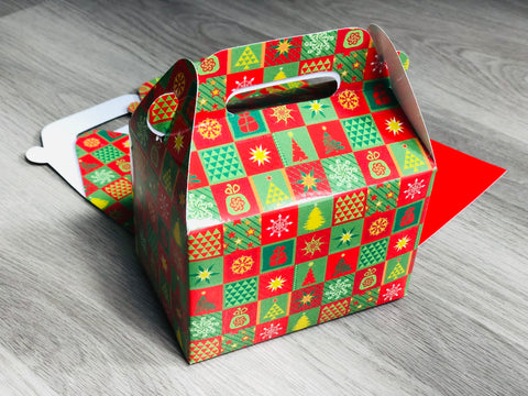 Christmas Tree Pattern Favor Boxes / Treat Boxes / Gift Boxes